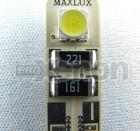 Becuri T10 (W5W) canbus cu 2 leduri Maxlux